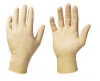 Latex-Einweghandschuh, gepudert