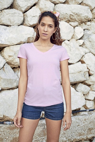 T-Shirt Lady Fit Valueweight V-Neck T