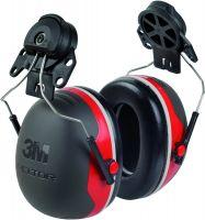 Kapselgehörschutz X3P3, rot, Adapter für Peltorhelme
