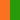 leuchtorange/grün