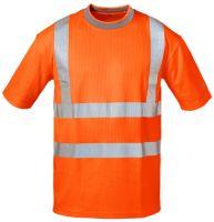 Warnschutz-T-Shirt leuchtorange, EN ISO 20471 Klasse 2, EN 13758-2, EN ISO 13688