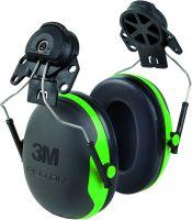 Kapselgehörschutz X1P3, grün, Adapter für Peltorhelme