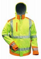 Warnschutz Softshell Jacke mit Kapuze