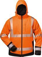 Warnschutz-Winter-Softshell Jacke mit Kapuze
