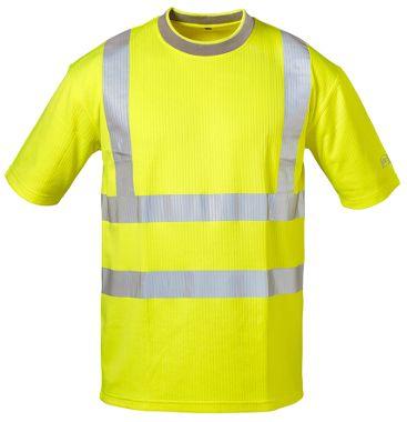 L Warnschutz-T-Shirt leuchtgelb Gr Airsoft Bekleidung & Schutzausrüstung