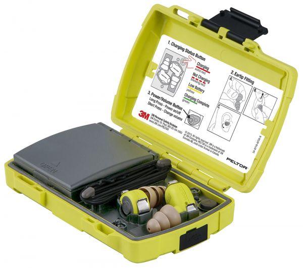 Gehörschutzstöpsel LEP-200 EU mit niveauabhängiger Funktion, inkl. mobiler Ladestation