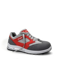 Sicherheits-Halbschuh Travis grey-red LOW