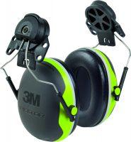 Kapselgehörschutz X4P3, fluoreszierend gelb/grün, Adapter für Peltorhelme