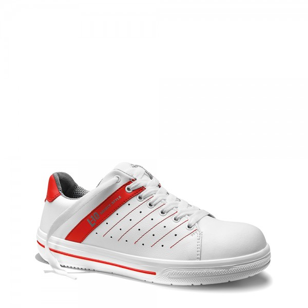 Berrufs-Halbschuh Norris white-red LOW